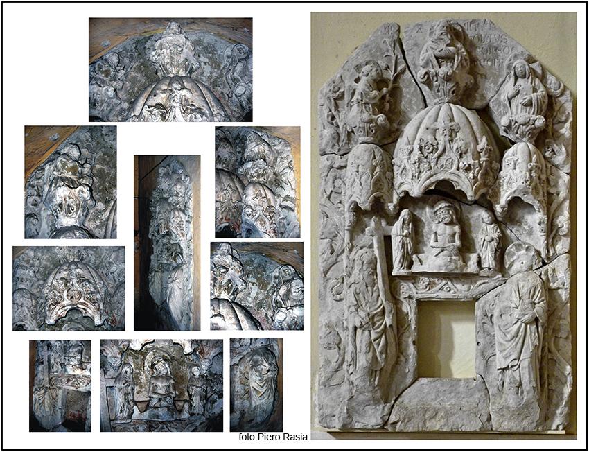 2006 - 2009 - Ciborio 1438 - prima e dopo il restauro