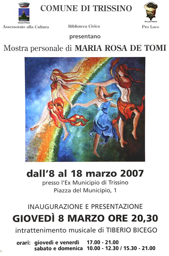 2007 - Maria Rosa De Tomi pittrice
