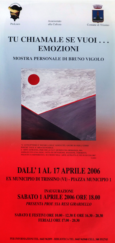 2006 - Locandina Mostra Bruno Vigolo